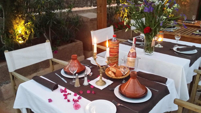 Restaurant Marrakech medina Riad of Charm Al Ksar Spa