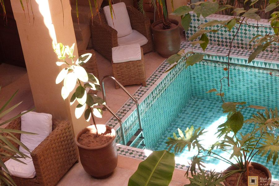 Riad Marrakech avec Piscine | Riad Al Ksar & Spa Médina Maroc
