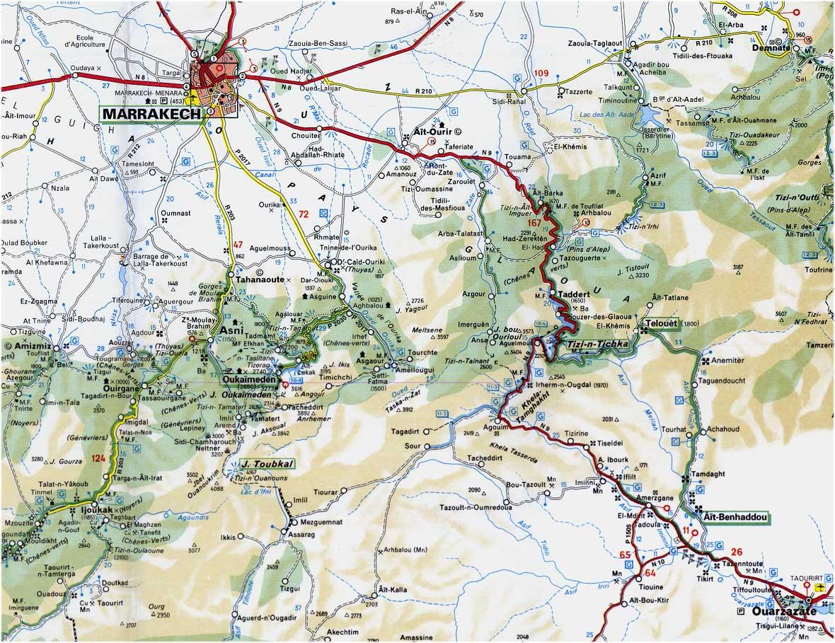 Cartes Plans de Marrakech | Sud Maroc Ouarzazate Ourika Imlil Ait Benhaddou