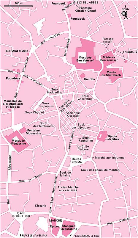 Cartes Plans de Marrakech | les Souks A Imprimer