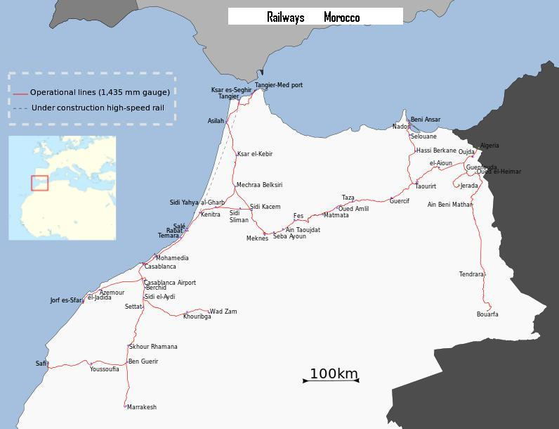 Cartes Plans de Marrakech | Réseau Train ONCF et Gares Maroc A Imprimer