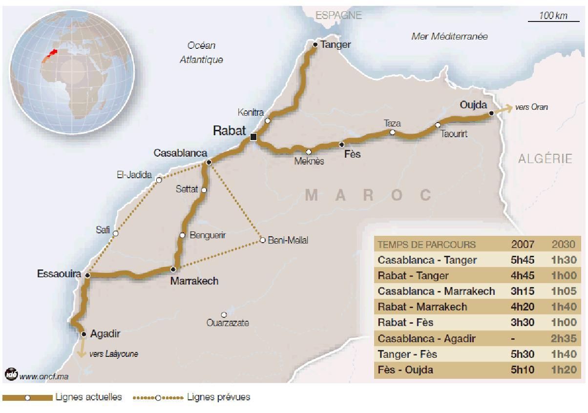 Morocco High Speed train projet LGV maroc