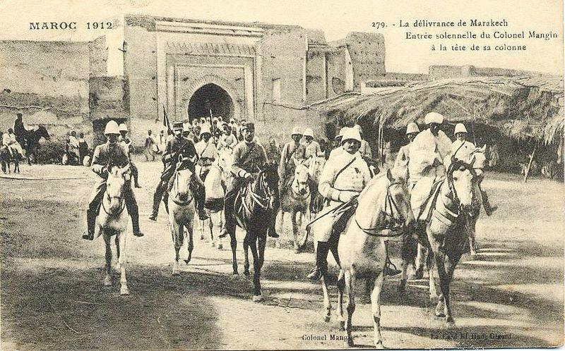 colonel mangin entre dans marrakech en 1912