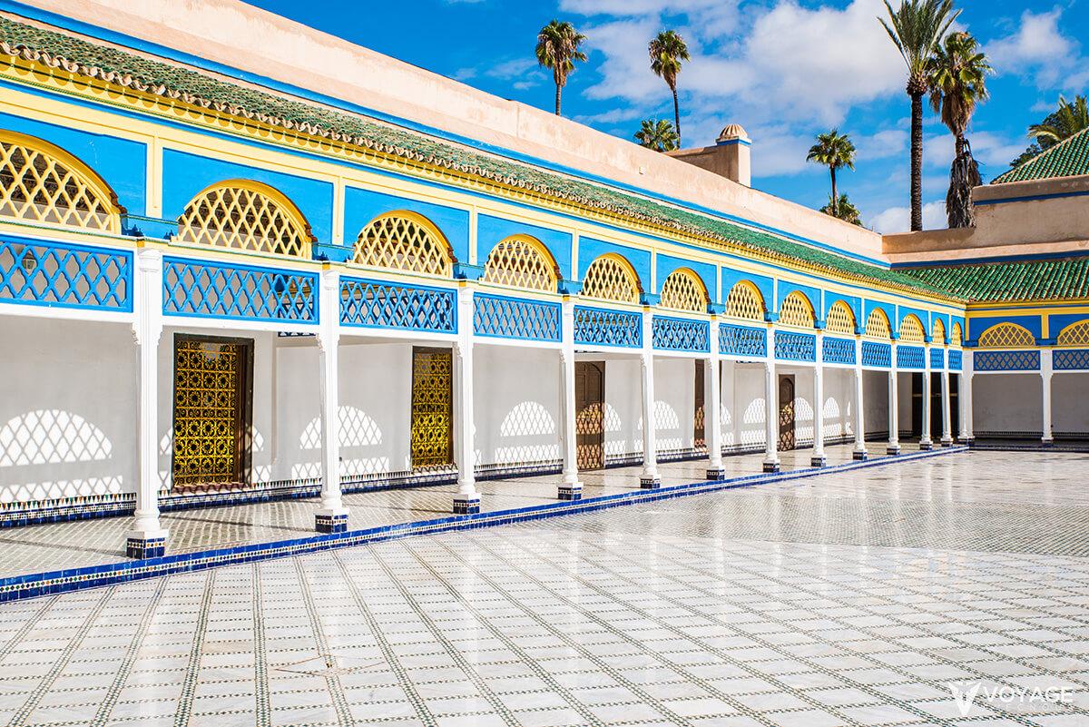 marrakech-palais-de-la-bahia cour d honneur