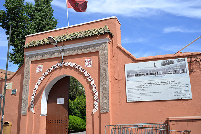 Bahia Palace Marrakech entrance