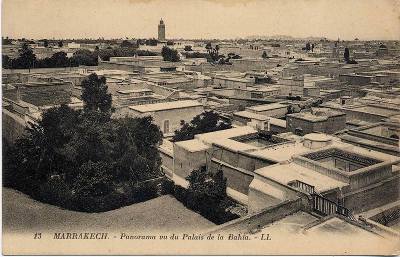 panorama de la medina de marrakech vue du palais de la bahia