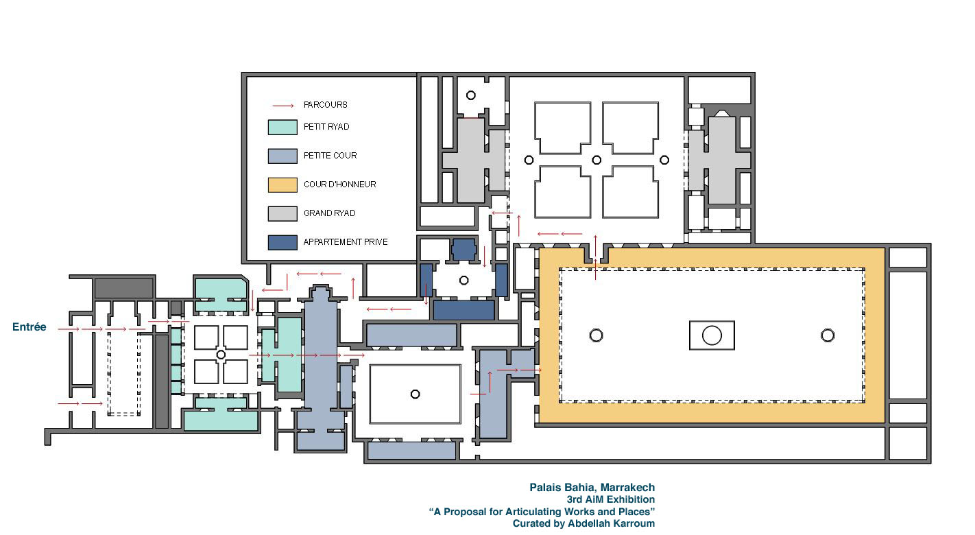 plan du palais de la bahia