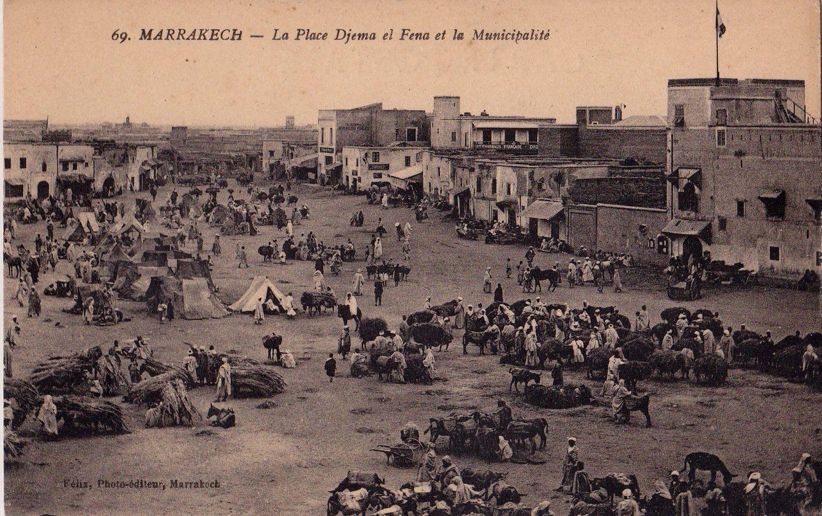 Place Jemaa El Fna Marrakech ancienne