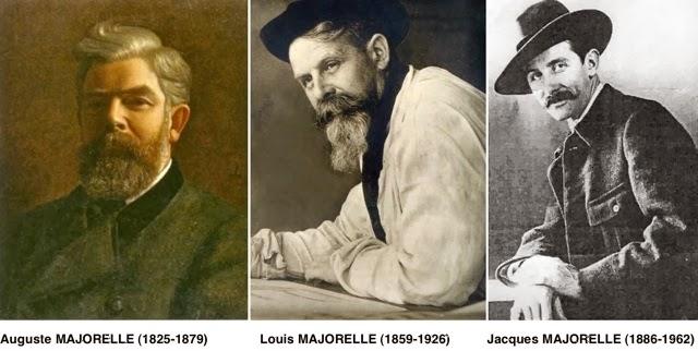 les majorelle:pere Auguste, fils Louis et petit-fils Jacques