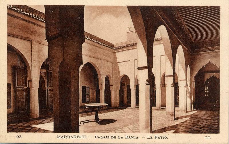 palais_bahia - patio de la petite cour d entree