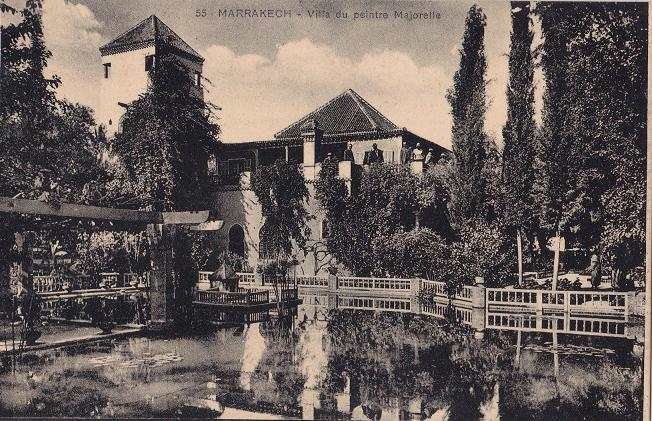 villa of the painter Jacques Majorelle – post card