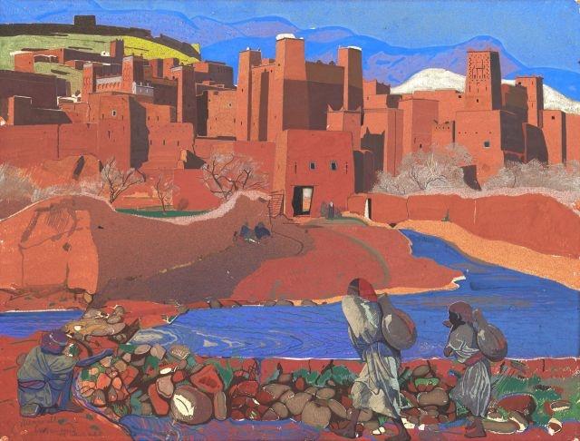 Aït Ben Addou, Vallée de L'oued Mellah, Grand Atlas, La Séguia - Jacques Majorelle