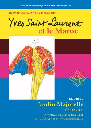 Affiche yves saint laurent et le Maroc - jardin majorelle 2010