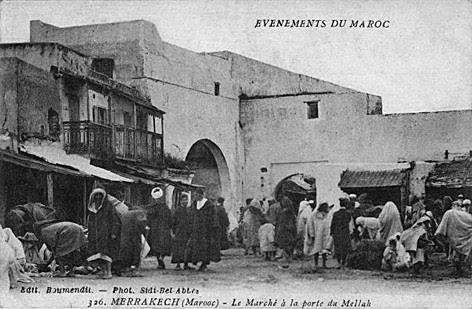 Marche Porte Mellah Marrakech
