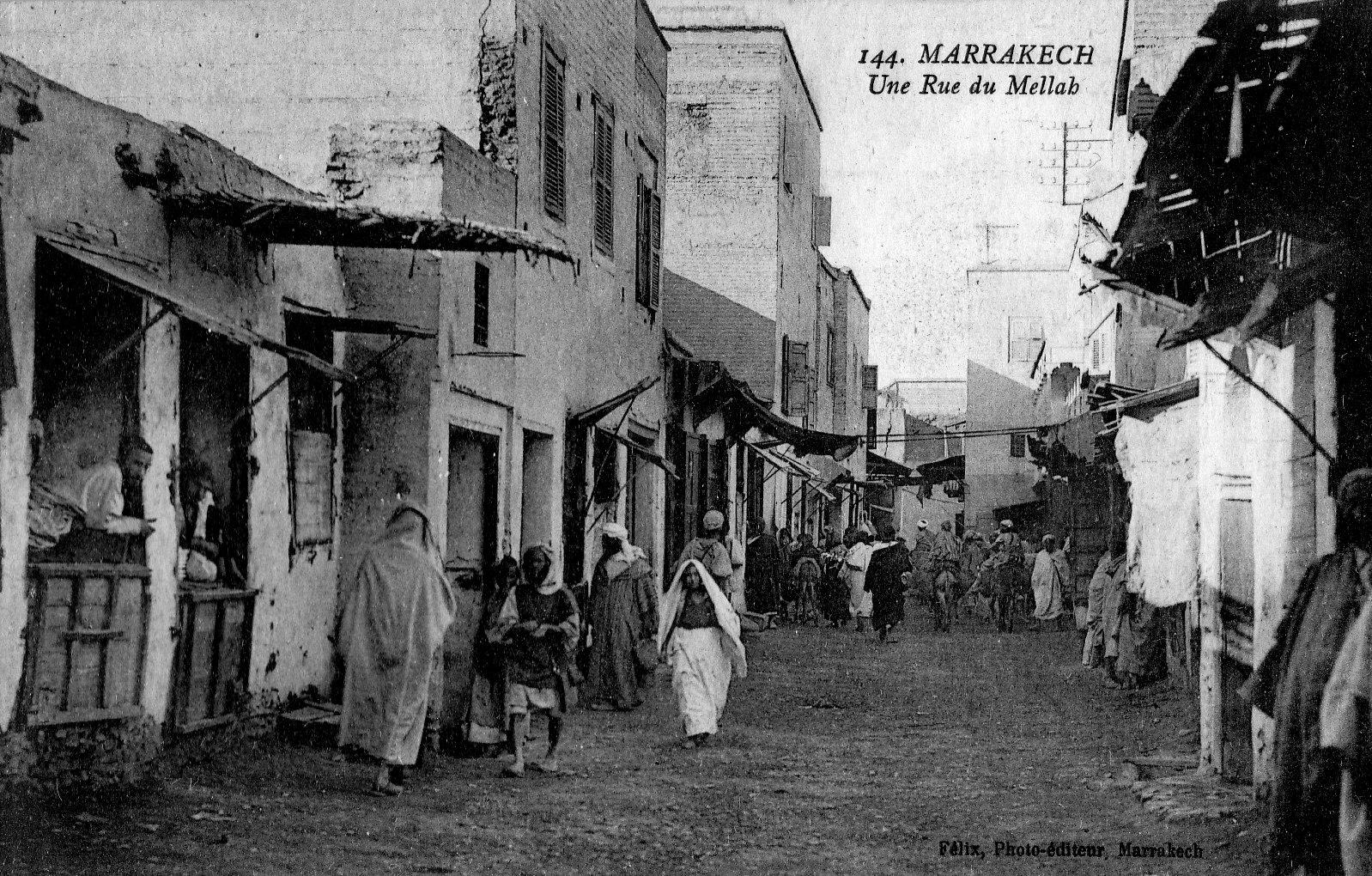 Marrakech Une rue Mellah Quartier Juif