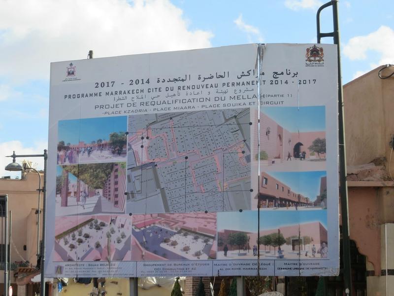 Panneau des Travaux du Mellah Marrakech 2014-2017