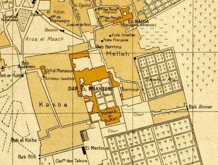 Plan Ancien Quartier Juif Mellah Marrakech