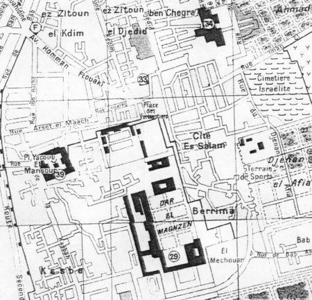 Plan Quartier Juif Mellah Ancient