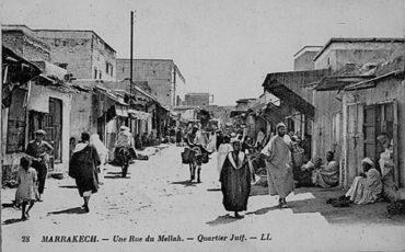 Une rue du Mellah de Marrakech
