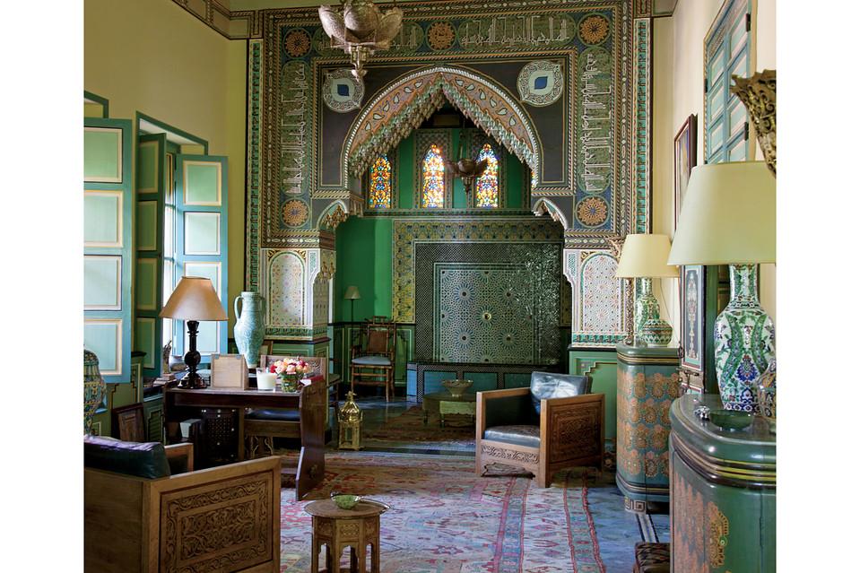 salon villa marrakech oasis ysl bou saf saf