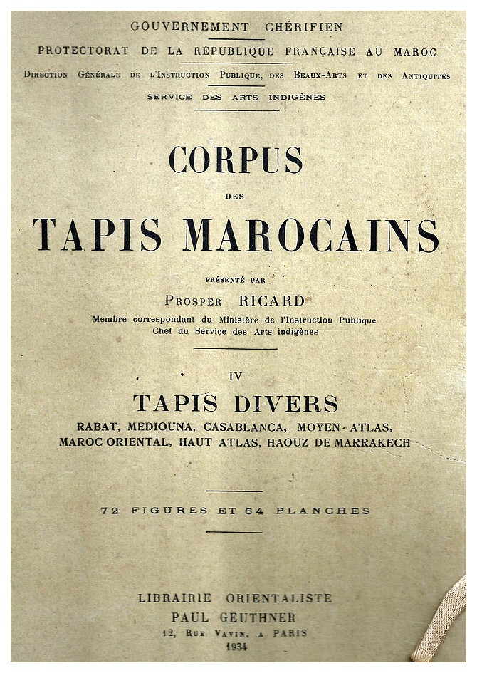 Corpus Tapis Marocains prosper ricard