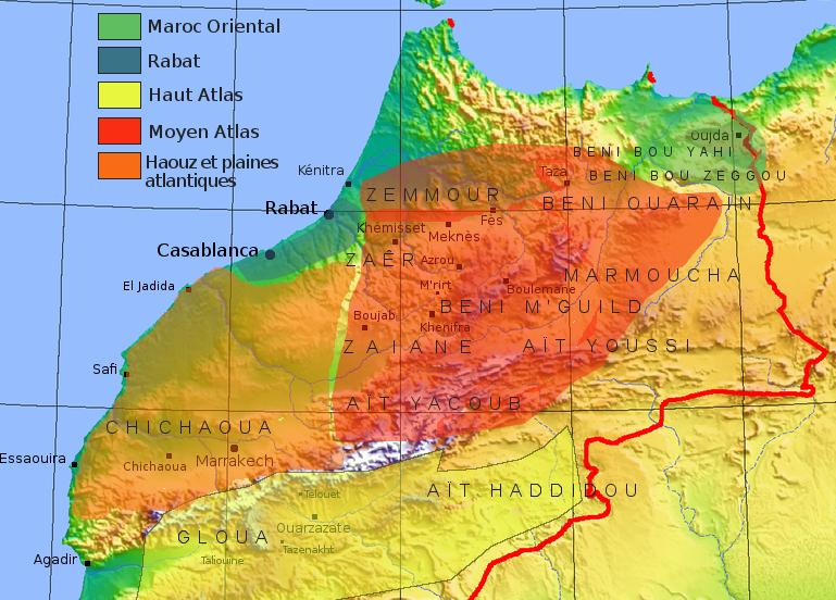 Carte Tapis Maroc - Carpet Rug Moroccan Map