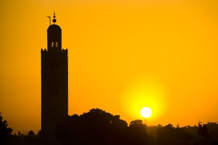 Koutoubia Marrakech sunset