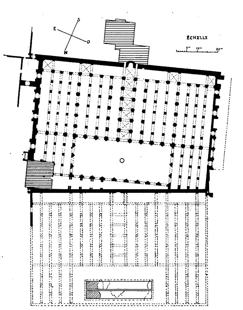 Plan de la Koutoubia et de la primo mosquee