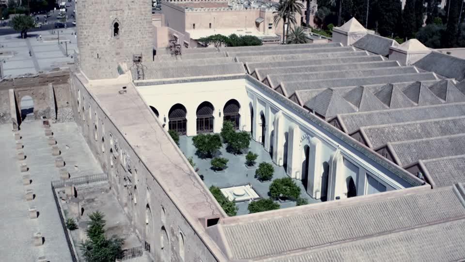 Vue aerienne de la Mosquee de la Koutoubia Marrakech