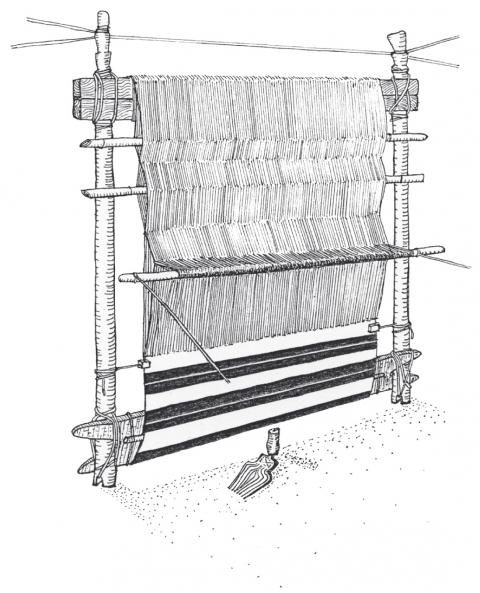 metier a tisser vertical berbere © claude lefebure