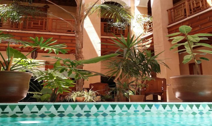 Riad Al Ksar Hotel of Charm Swimming pool Marrakech medina