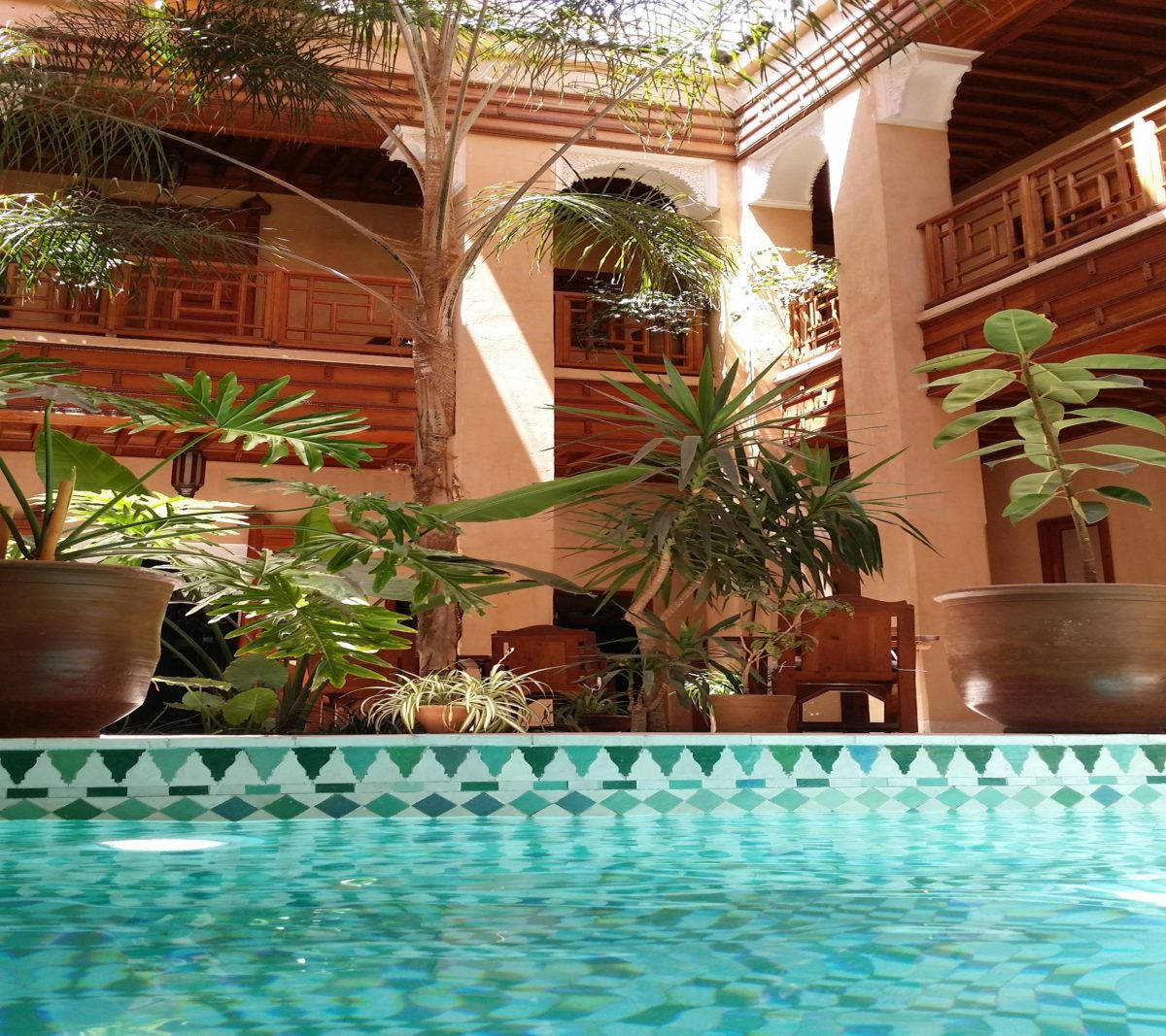 Hotel Swimming pool of Charm Marrakech medina Riad Al Ksar
