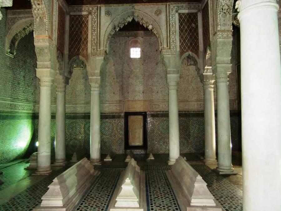 Les-tombeaux-Saadiens - sepulture Sultan Ahmed el Mansour