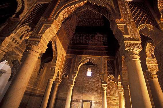 tombeaux-saadiens salle 12 colonnes