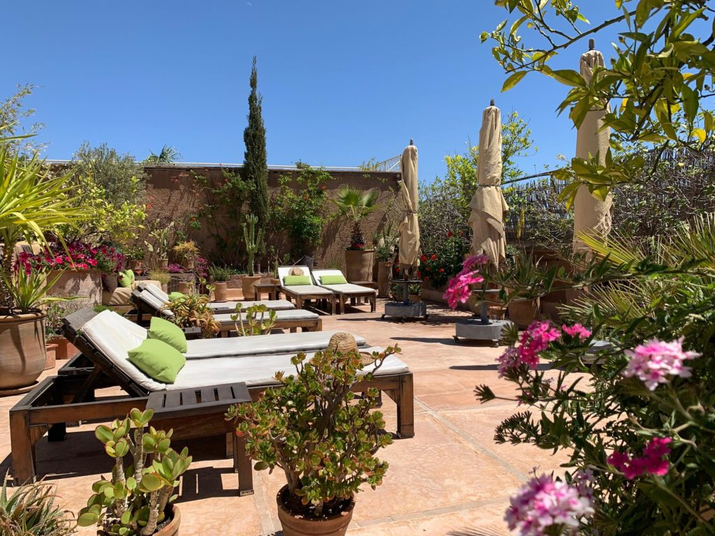 Rooftop Terrasse Lounge Riad Medina Marrakech Al Ksar guesthouse