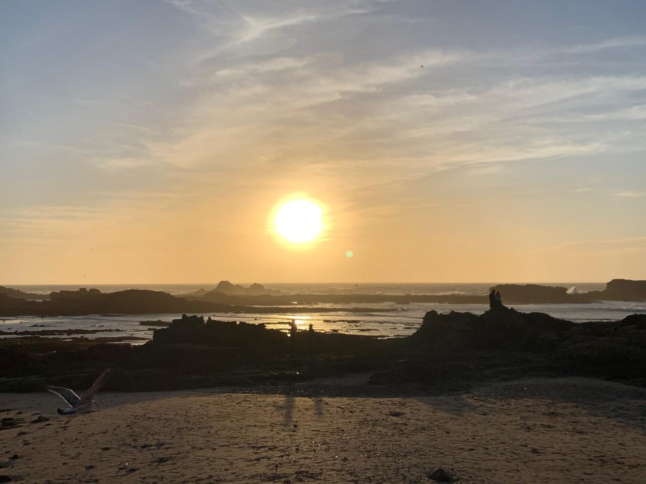 Coucher de Soleil sur les iles Purpairaires Mogador Essaouira
