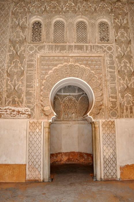 marrakech-medersa mirhab islam