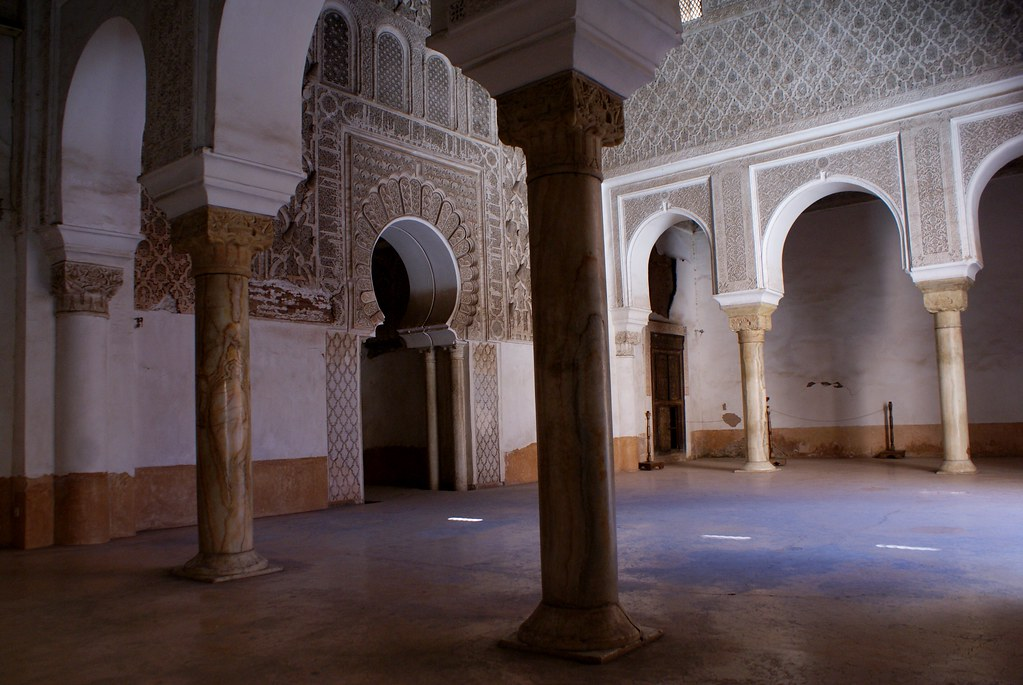 plan medersa ben youssef marrakech - salle de prieres