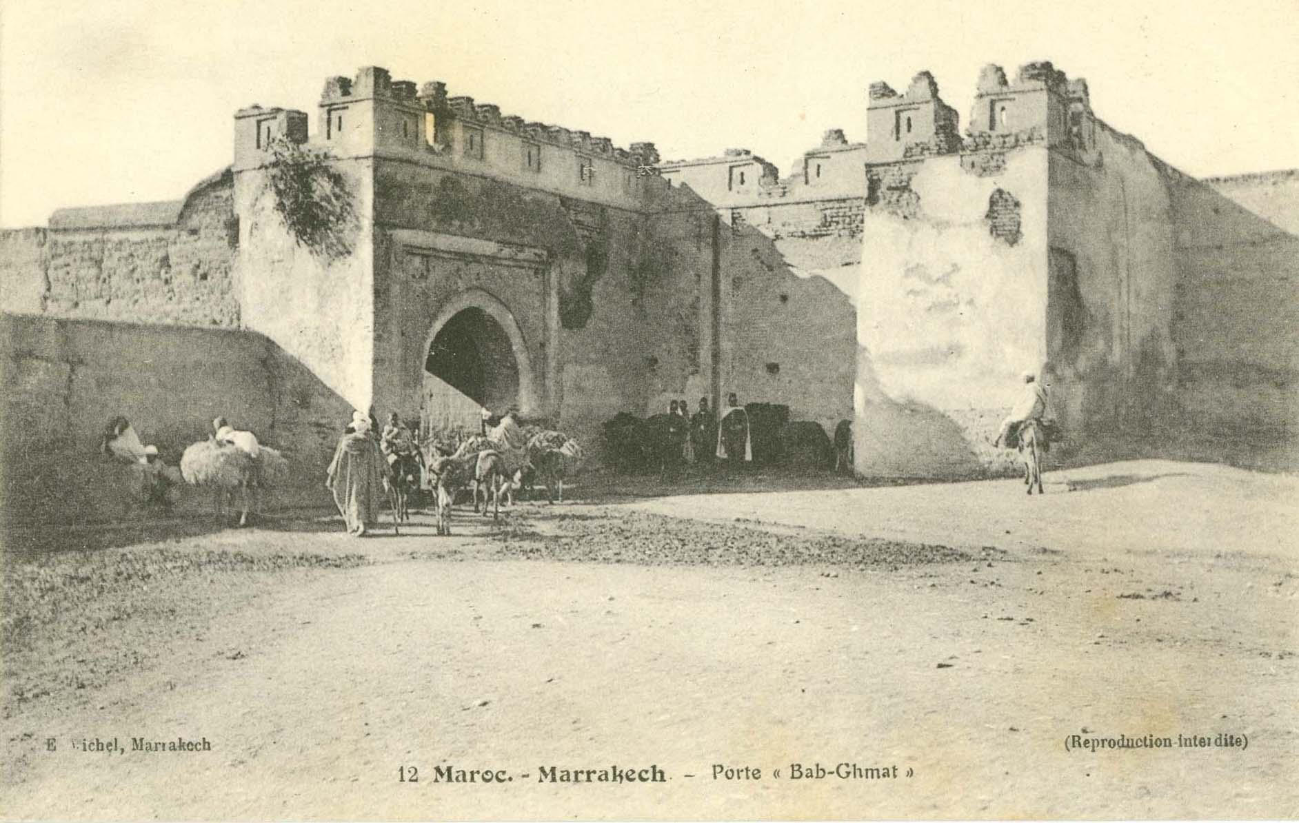 bab ghmat marrakech ancienne photo © E Michel
