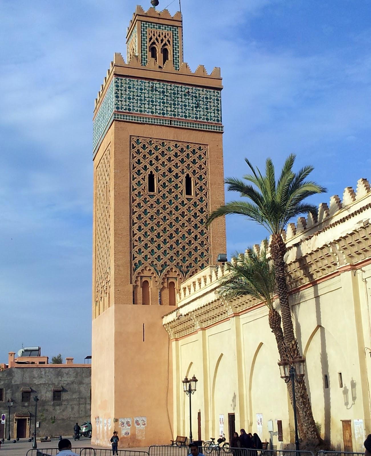 minaret mosquée kasbah Al Yazid Marrakech - Almohade