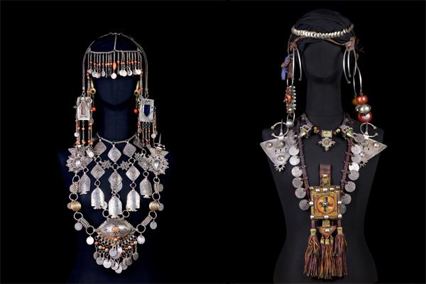Parure Bijoux berbère-© fondation-pierre-berge-yves-saint-laurent-femmes-berberes-du-maroc