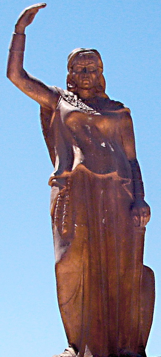 Statue of Dyhia Kahina berbere Queen in Khenchela (Algeria)
