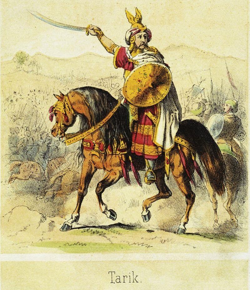 Tariq ibn Ziyad, Conquérant Berbere d'Al Andalus - dessin de Theodor - Berbères au Maroc