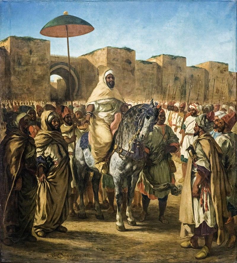 abderrahmane ben hicham Le_Sultan_du_Maroc_-_Eugène_Delacroix 1845