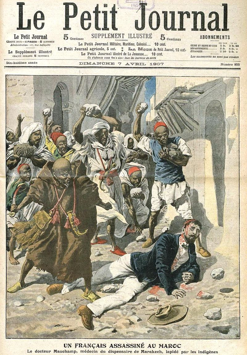 Assassinat Dr Mauchamp Marrakech (1907,Petit_Journal)