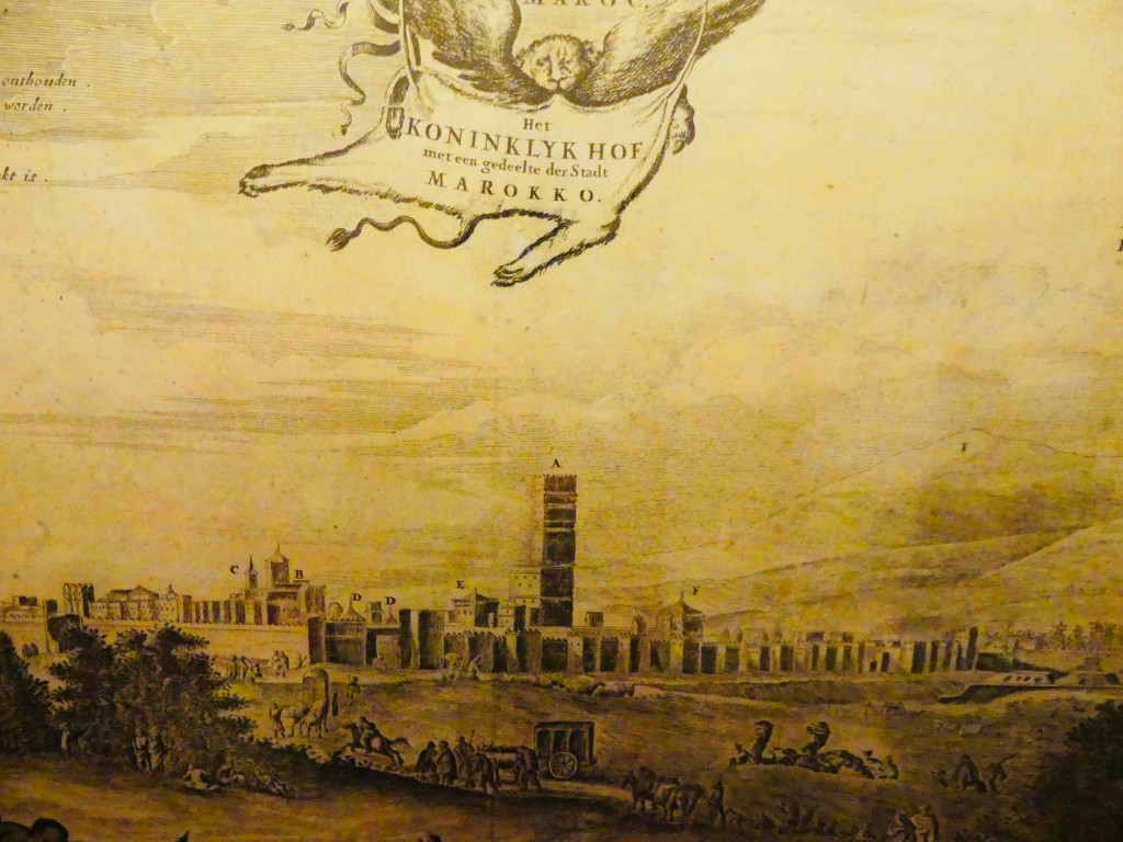 Vue de Marrakech, 1668, Dapper - history of marrakech