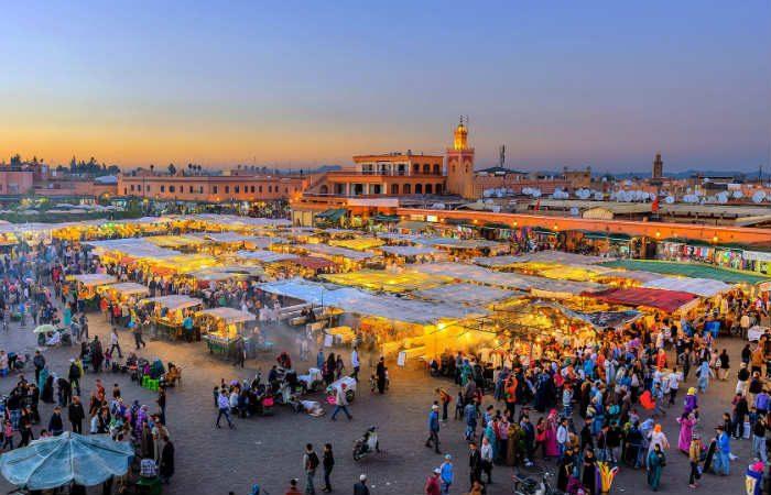 Marrakech-jemaa el fna - Négocier aux Souks à Marrakech