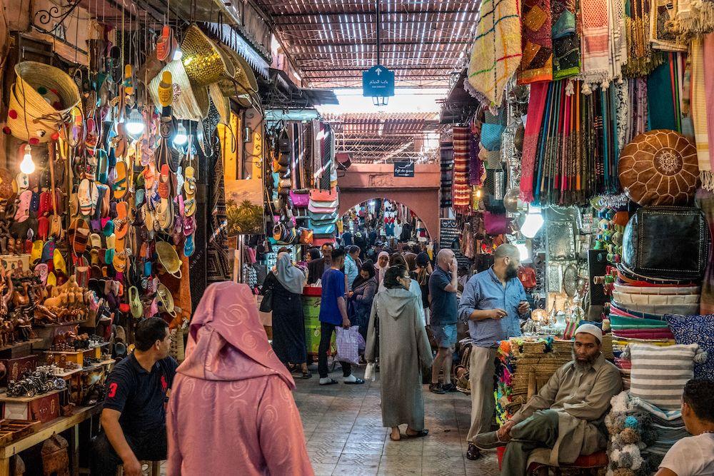 Marrakech medina souk - aux Souks à Marrakech