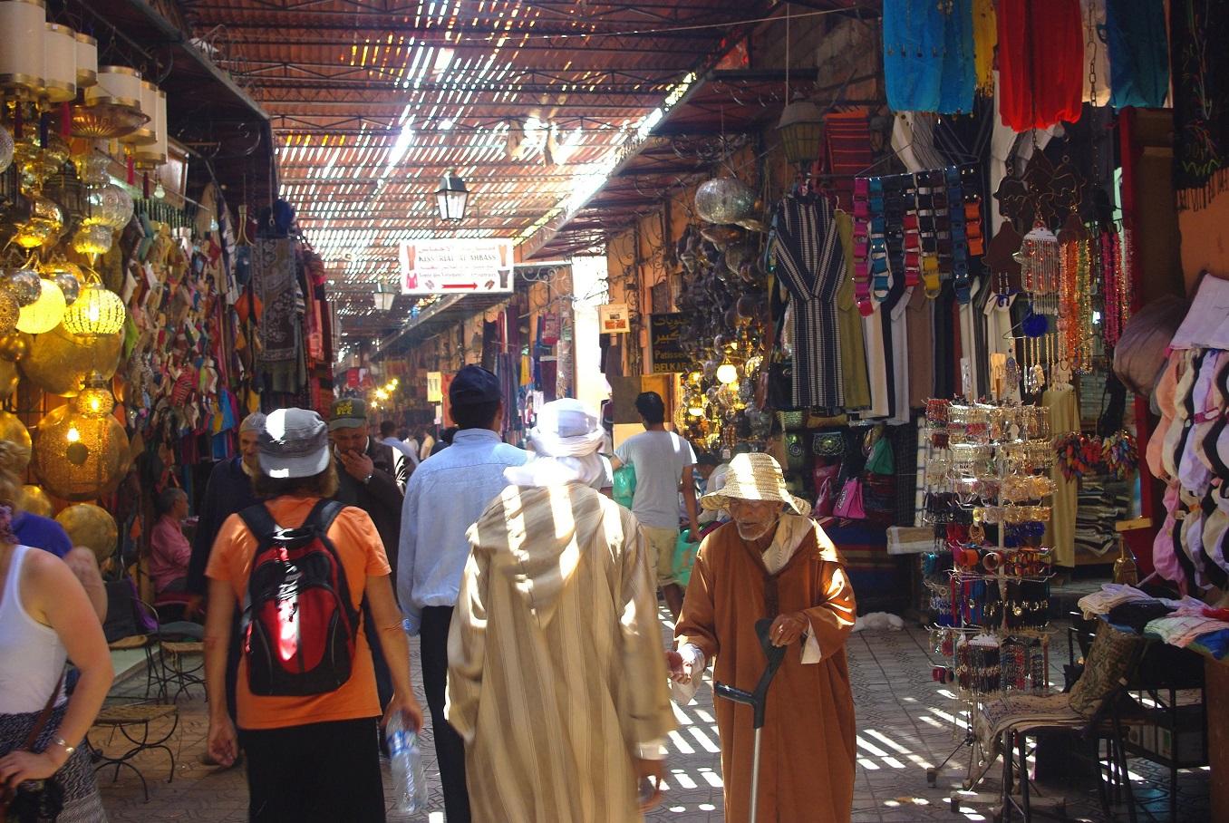 souk semmarine marrakech - visite et circuits depuis jemaa el fna