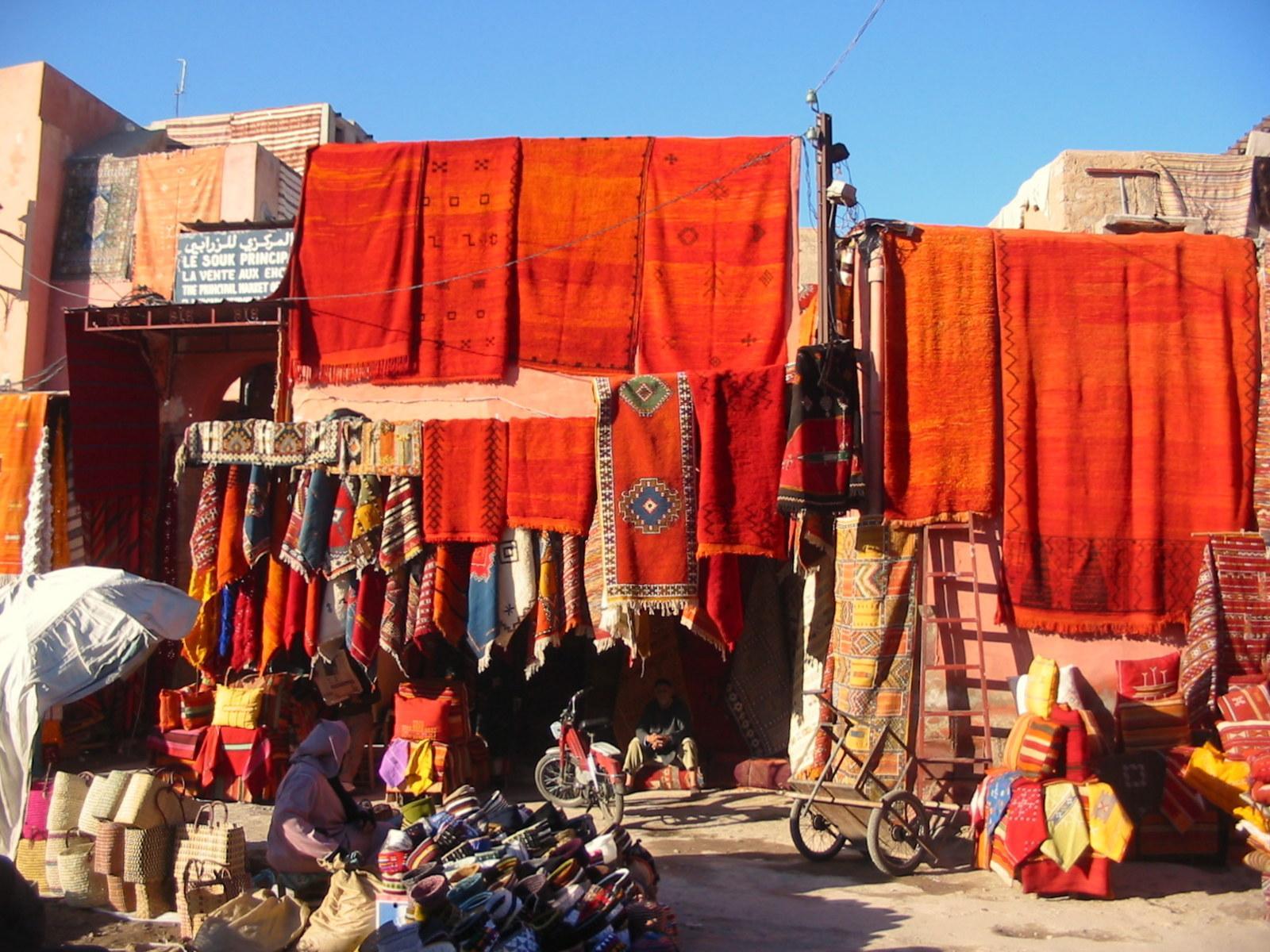 souk zrabi - souk des tapis de marrakech
